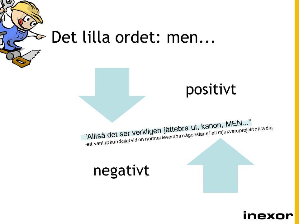 Det lilla ordet: men... positivt. negativt.