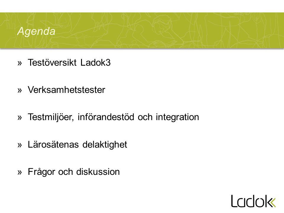 Agenda Testöversikt Ladok3 Verksamhetstester