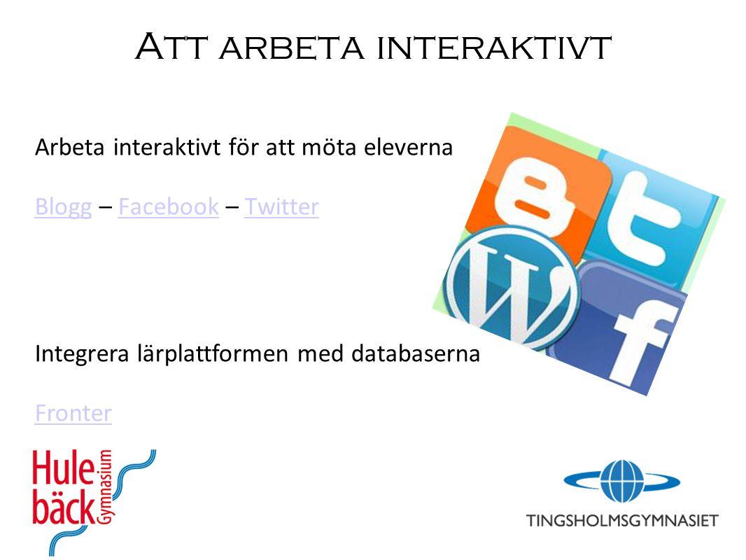 Att arbeta interaktivt