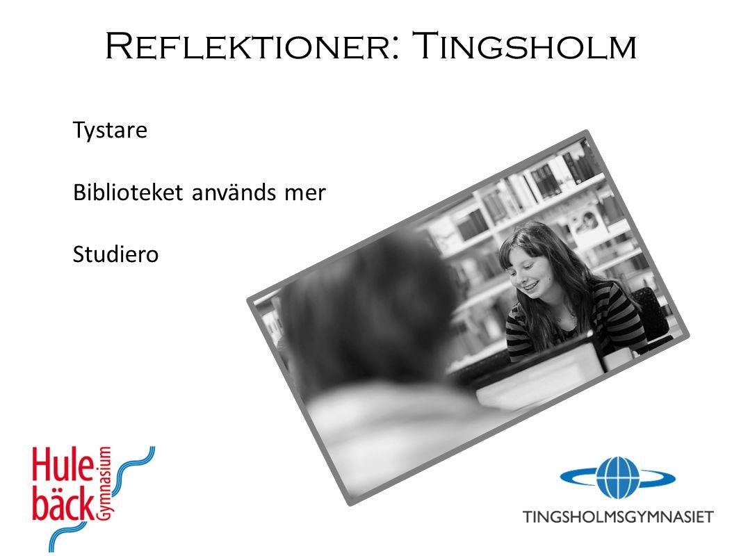 Reflektioner: Tingsholm