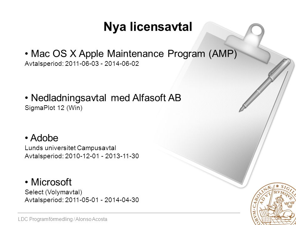 Nya licensavtal Mac OS X Apple Maintenance Program (AMP)