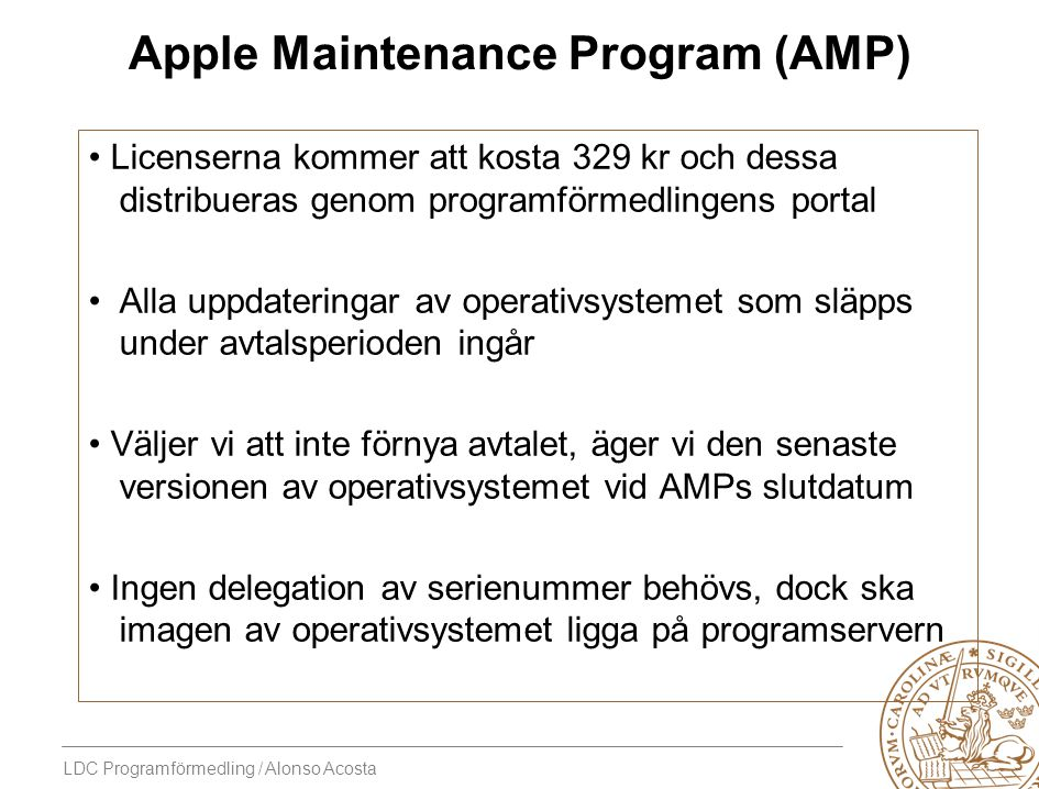 Apple Maintenance Program (AMP)