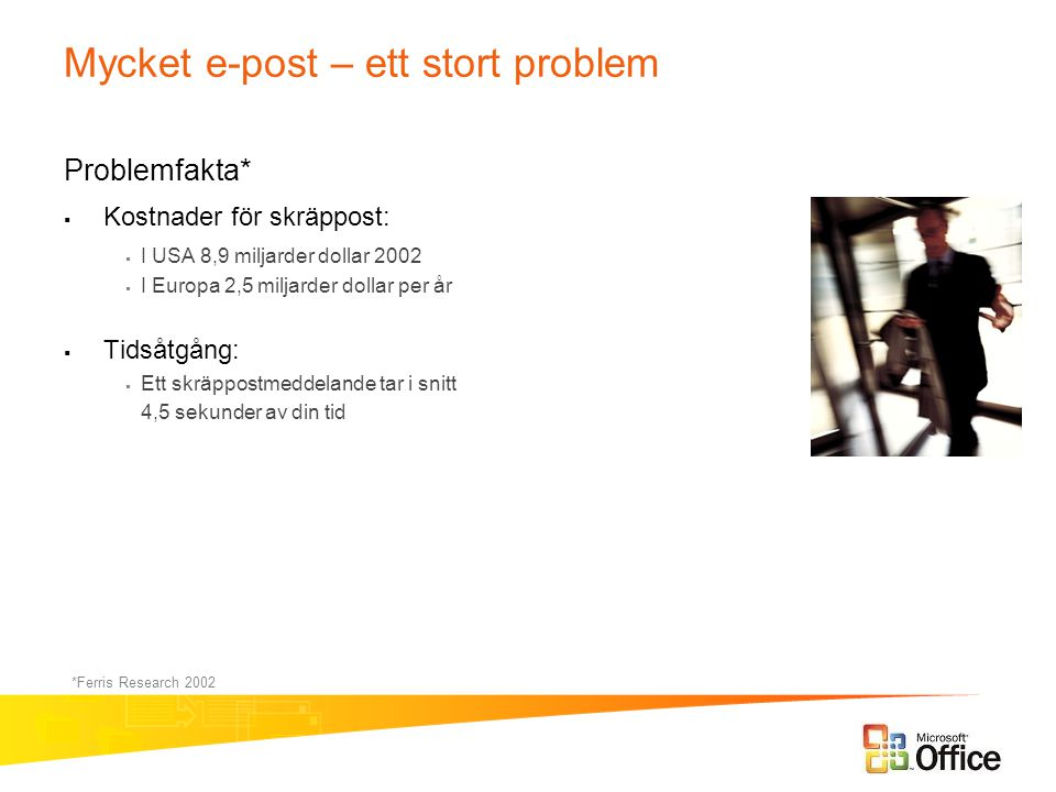 Mycket e-post – ett stort problem