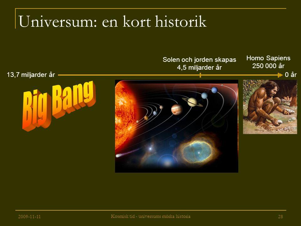 Universum: en kort historik