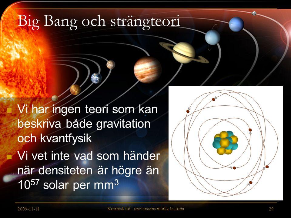 Big Bang och strängteori