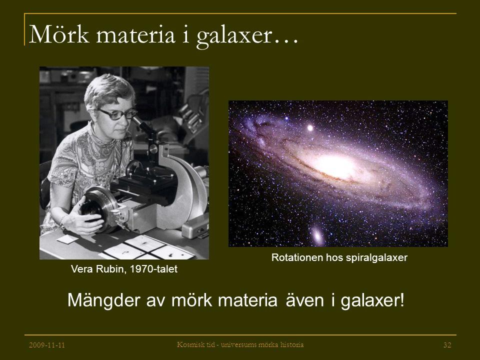 Mörk materia i galaxer…