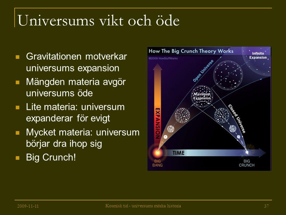 Universums vikt och öde