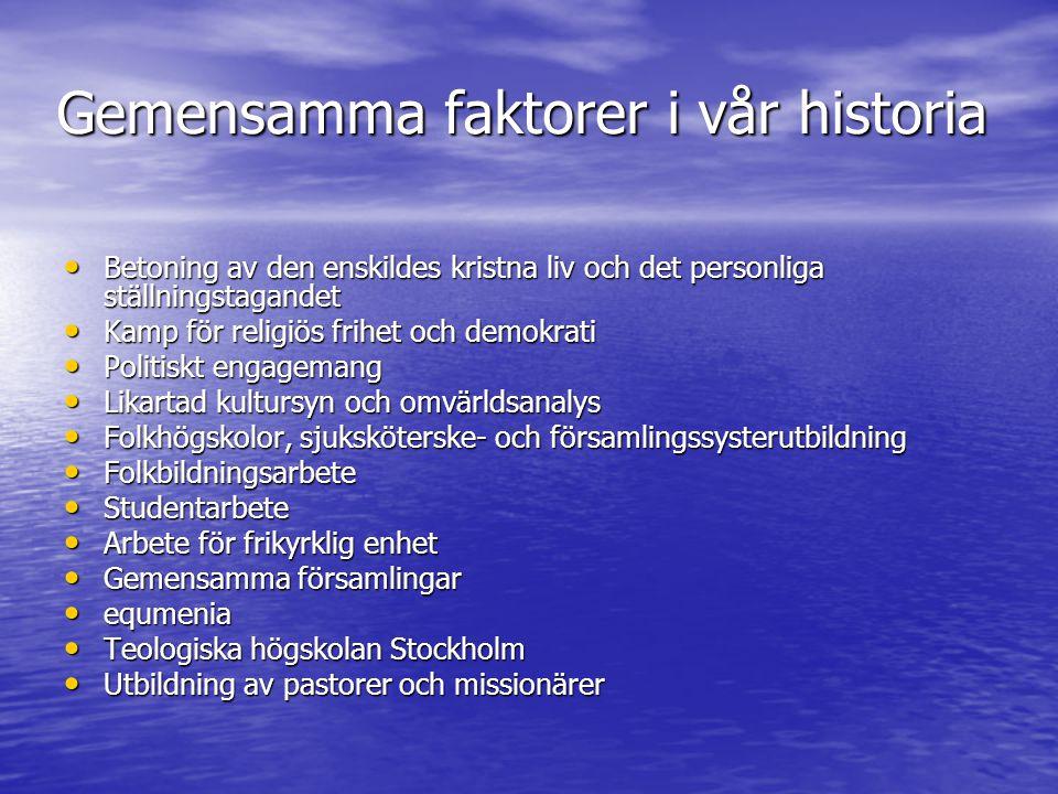 Gemensamma faktorer i vår historia