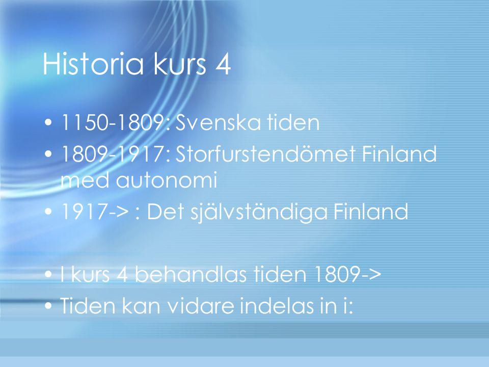 Historia kurs 4 1150-1809: Svenska tiden