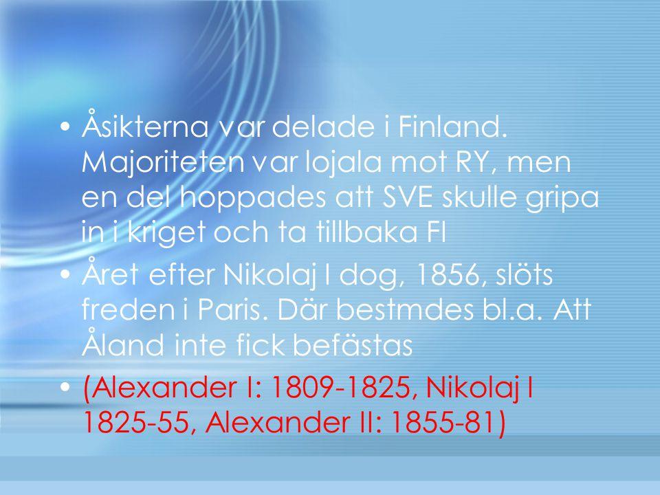 Åsikterna var delade i Finland