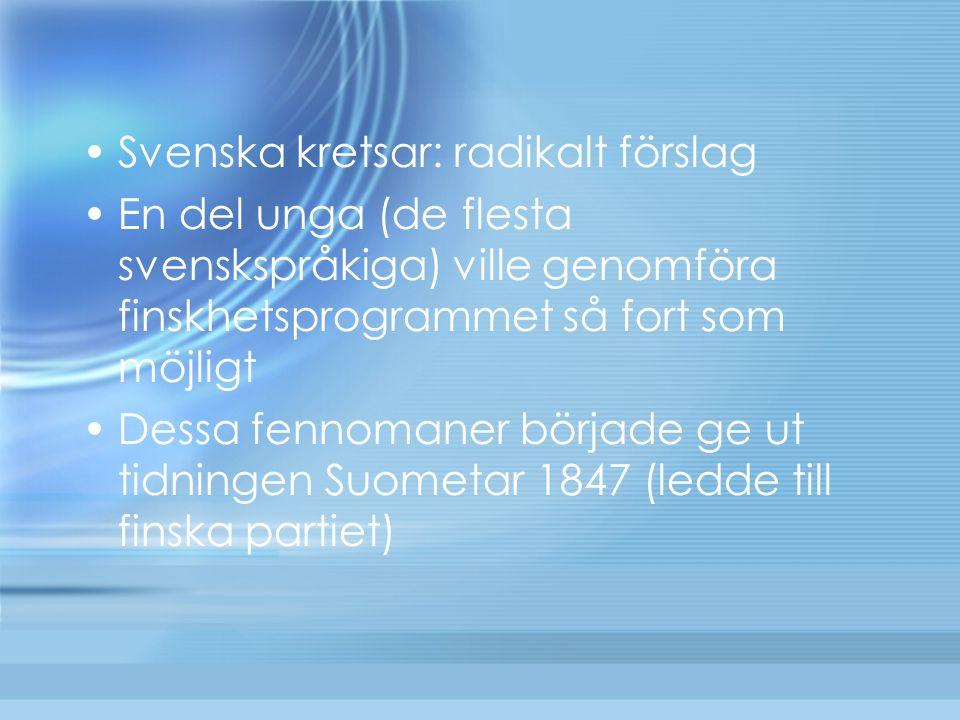 Svenska kretsar: radikalt förslag