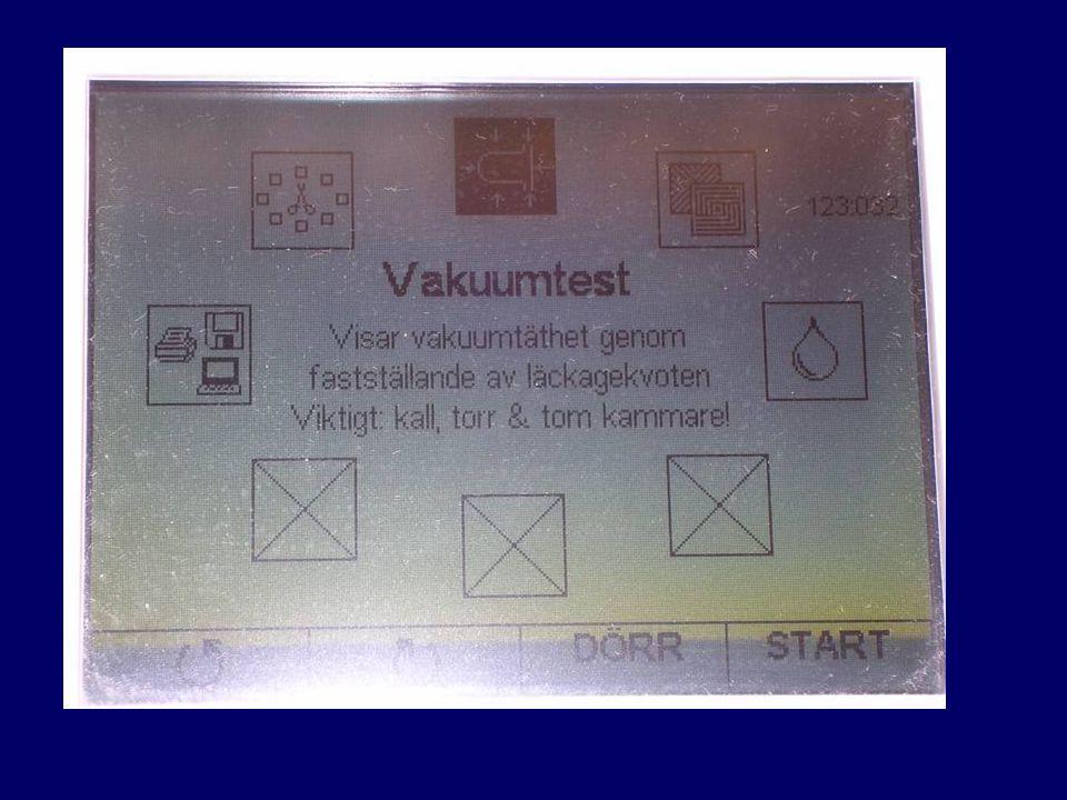 Detta är displayen på melag Vakuumtest programmet.