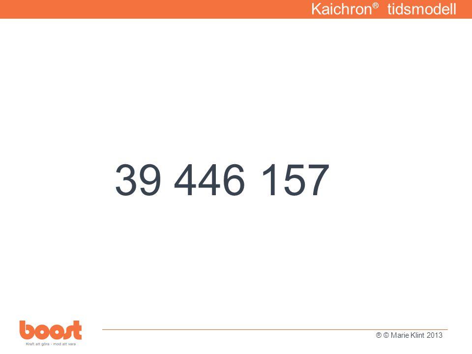 39 446 157 Kaichron® tidsmodell Tidshantering för ett hållbart liv