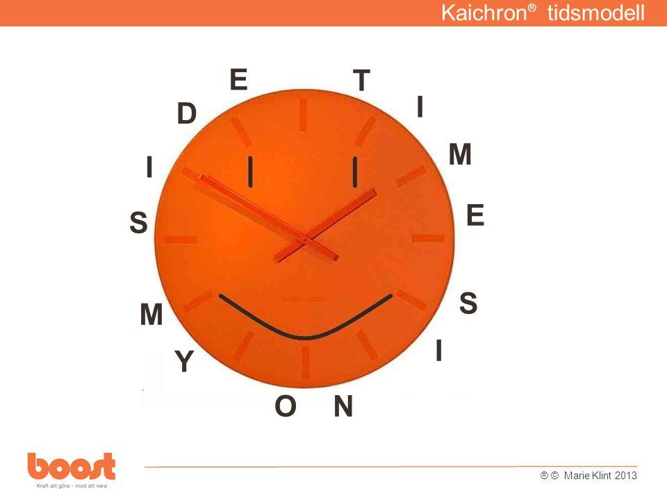 Kaichron® tidsmodell E T I D M I E S S M I Y O N ® © Marie Klint 2013