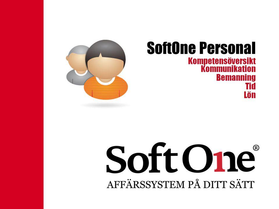 SoftOne Personal Kompetensöversikt Kommunikation Bemanning Tid Lön