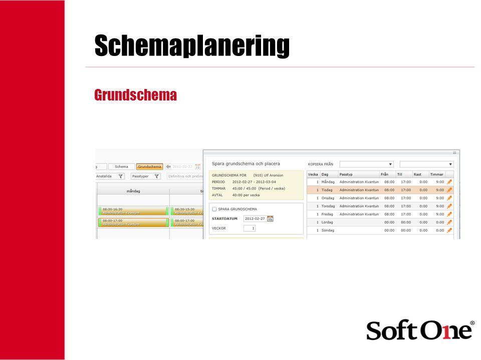 Schemaplanering Grundschema 1-15 anställda