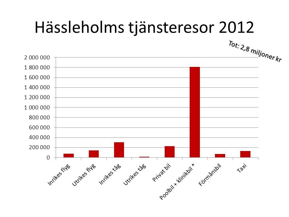 Hässleholms tjänsteresor 2012