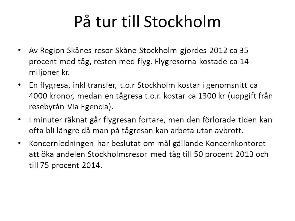 På tur till Stockholm