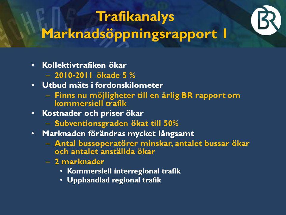 Trafikanalys Marknadsöppningsrapport 1