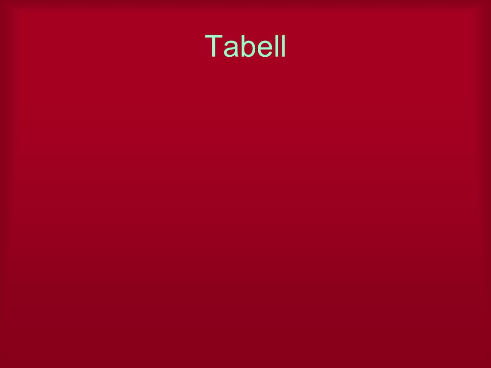 Tabell