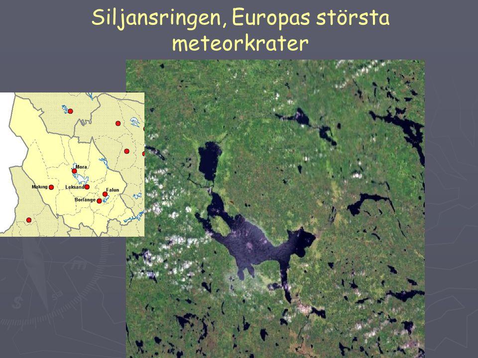 Siljansringen, Europas största meteorkrater