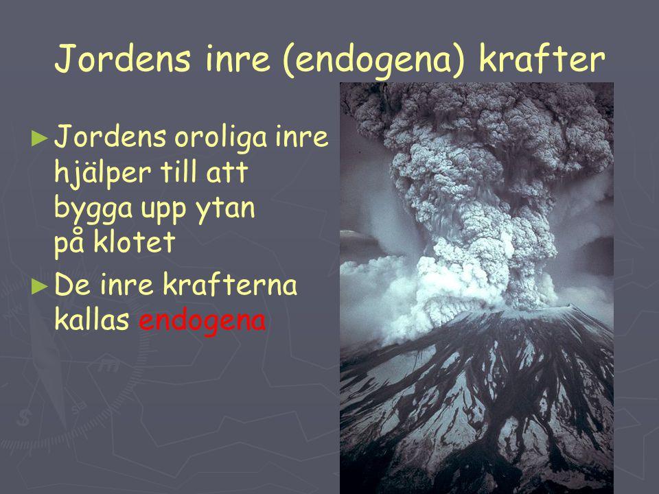 Jordens inre (endogena) krafter
