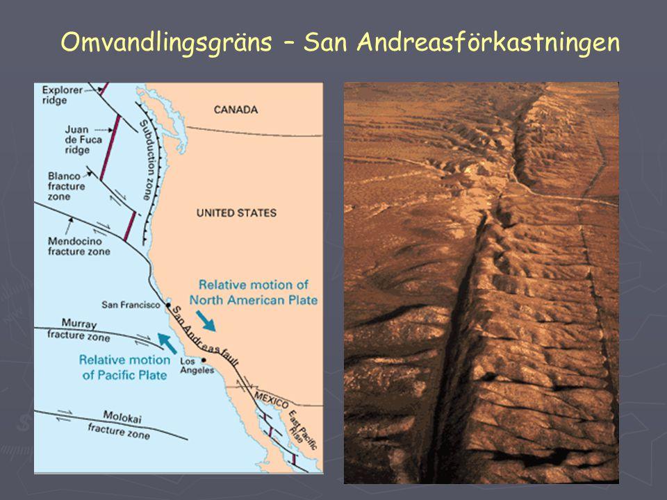 Omvandlingsgräns – San Andreasförkastningen