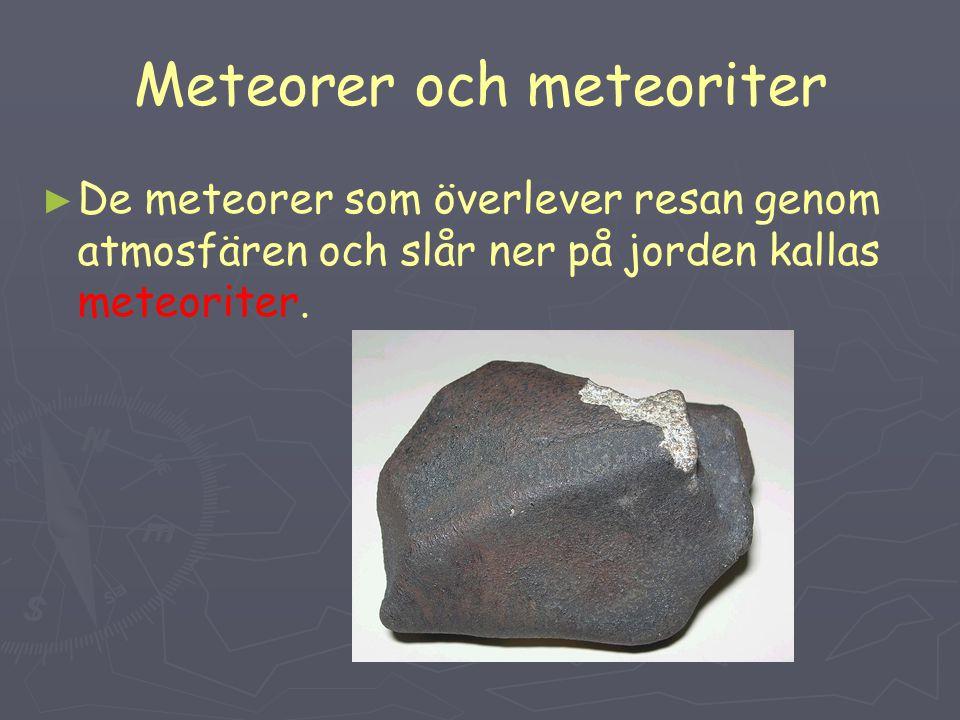 Meteorer och meteoriter