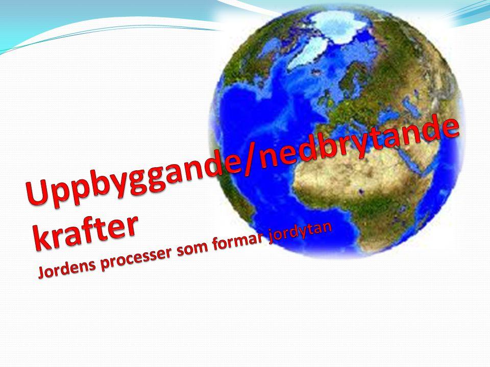 Uppbyggande/nedbrytande krafter Jordens processer som formar jordytan
