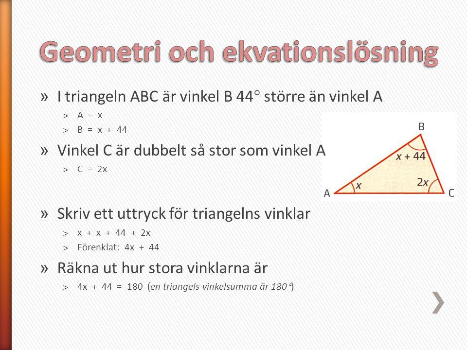 Geometri och ekvationslösning