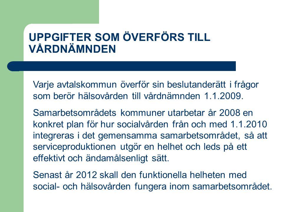 UPPGIFTER SOM ÖVERFÖRS TILL VÅRDNÄMNDEN