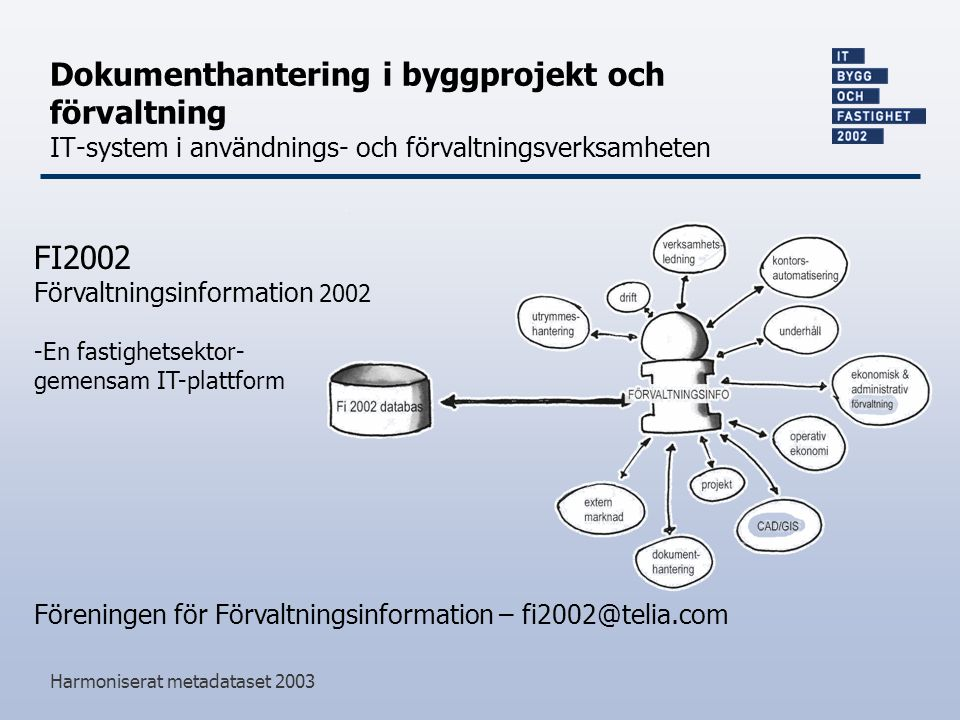 Dokumenthantering i byggprojekt och förvaltning IT-system i användnings- och förvaltningsverksamheten