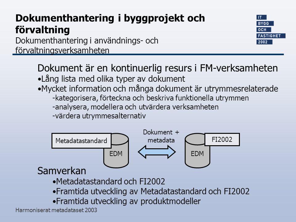 Dokument är en kontinuerlig resurs i FM-verksamheten