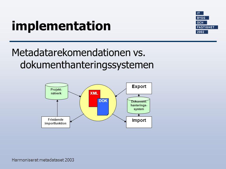 Fristående importfunktion Dokument-hanterings-system