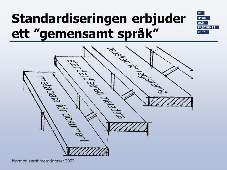 Standardiseringen erbjuder ett gemensamt språk