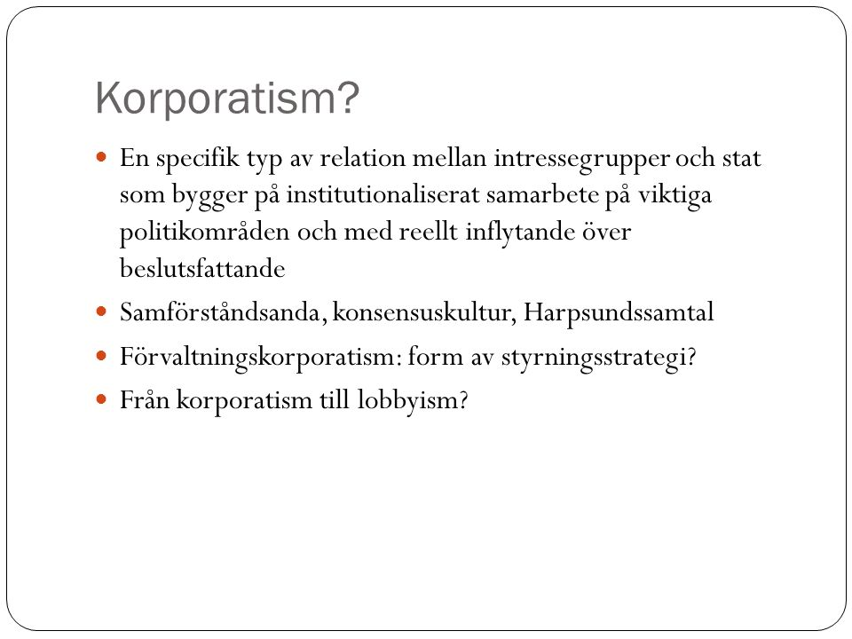 Korporatism
