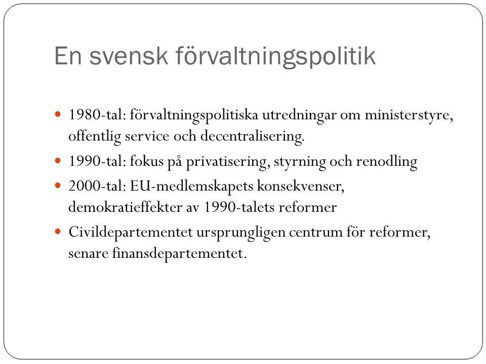En svensk förvaltningspolitik