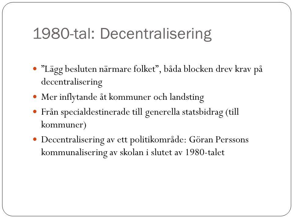 1980-tal: Decentralisering