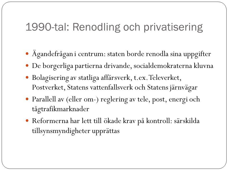 1990-tal: Renodling och privatisering
