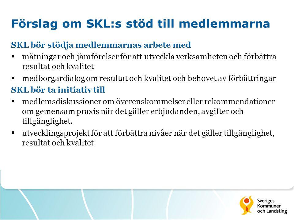 Förslag om SKL:s stöd till medlemmarna
