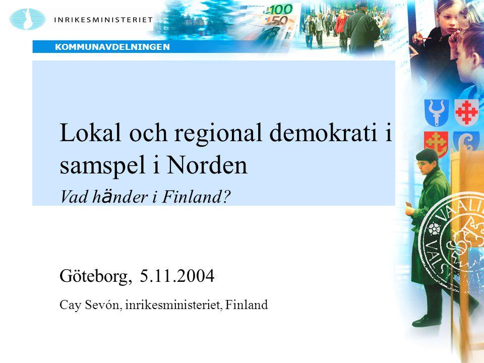 Lokal och regional demokrati i samspel i Norden