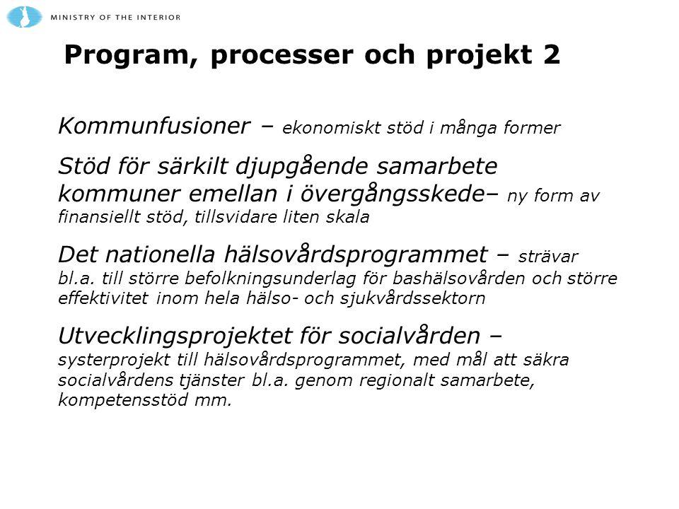 Program, processer och projekt 2