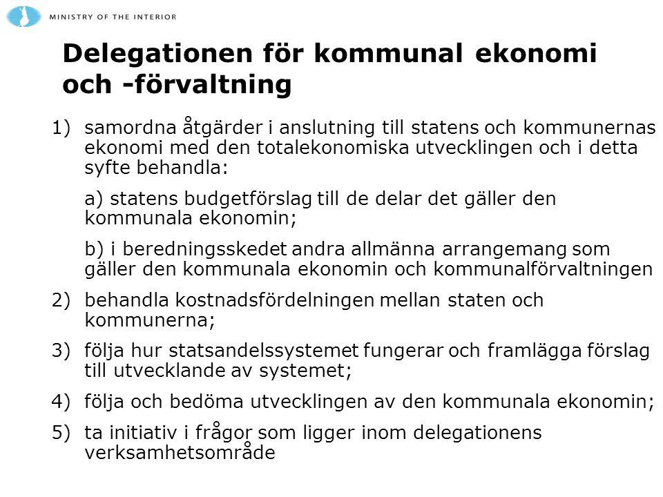 Delegationen för kommunal ekonomi och -förvaltning