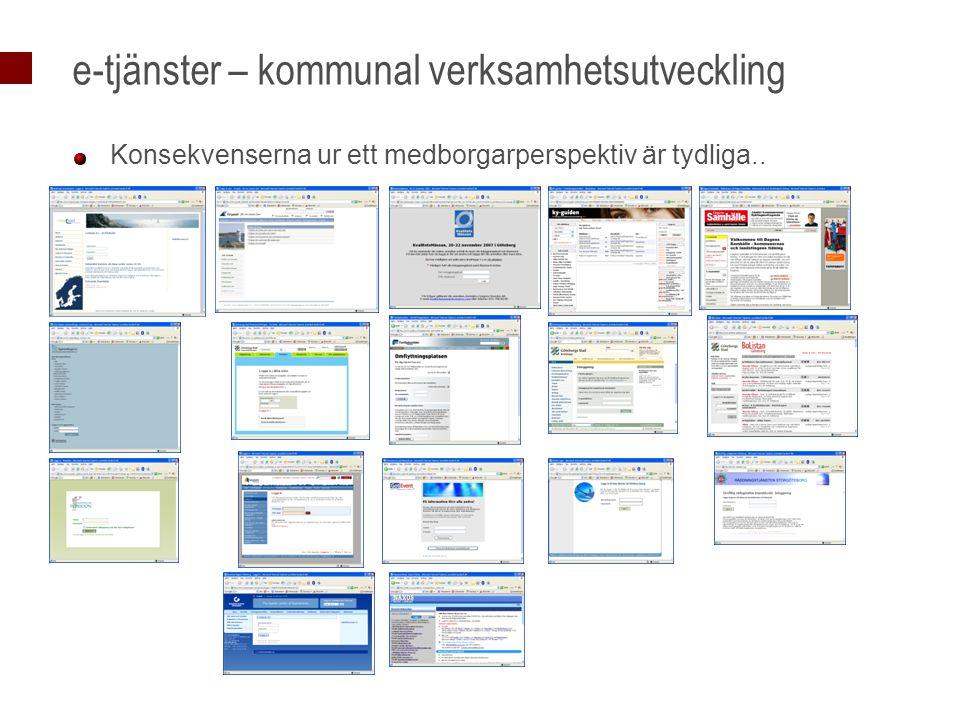 e-tjänster – kommunal verksamhetsutveckling