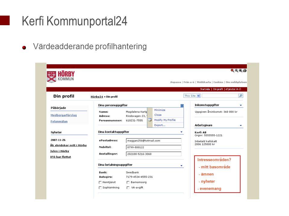 Kerfi Kommunportal24 Värdeadderande profilhantering