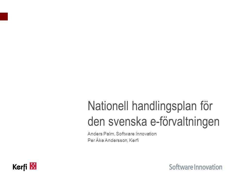 Nationell handlingsplan för den svenska e-förvaltningen