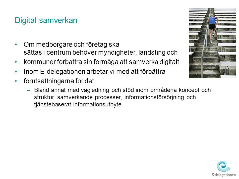Digital samverkan Om medborgare och företag ska sättas i centrum behöver myndigheter, landsting och.