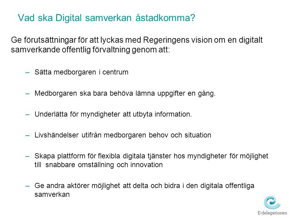 Vad ska Digital samverkan åstadkomma