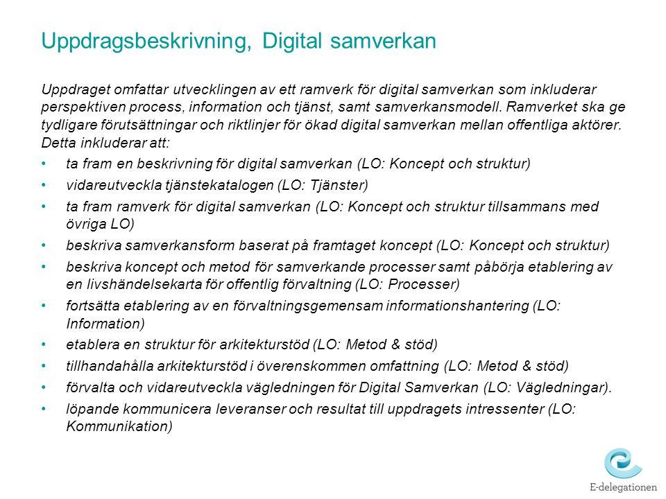 Uppdragsbeskrivning, Digital samverkan