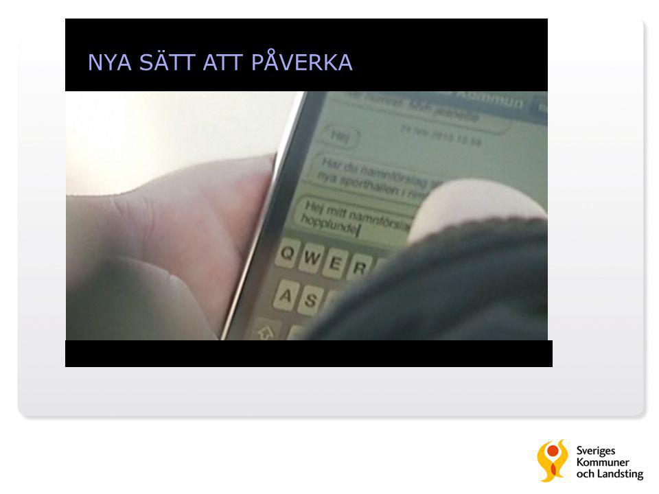 NYA SÄTT ATT PÅVERKA Medborgarpanel via sms i Kinda kommun